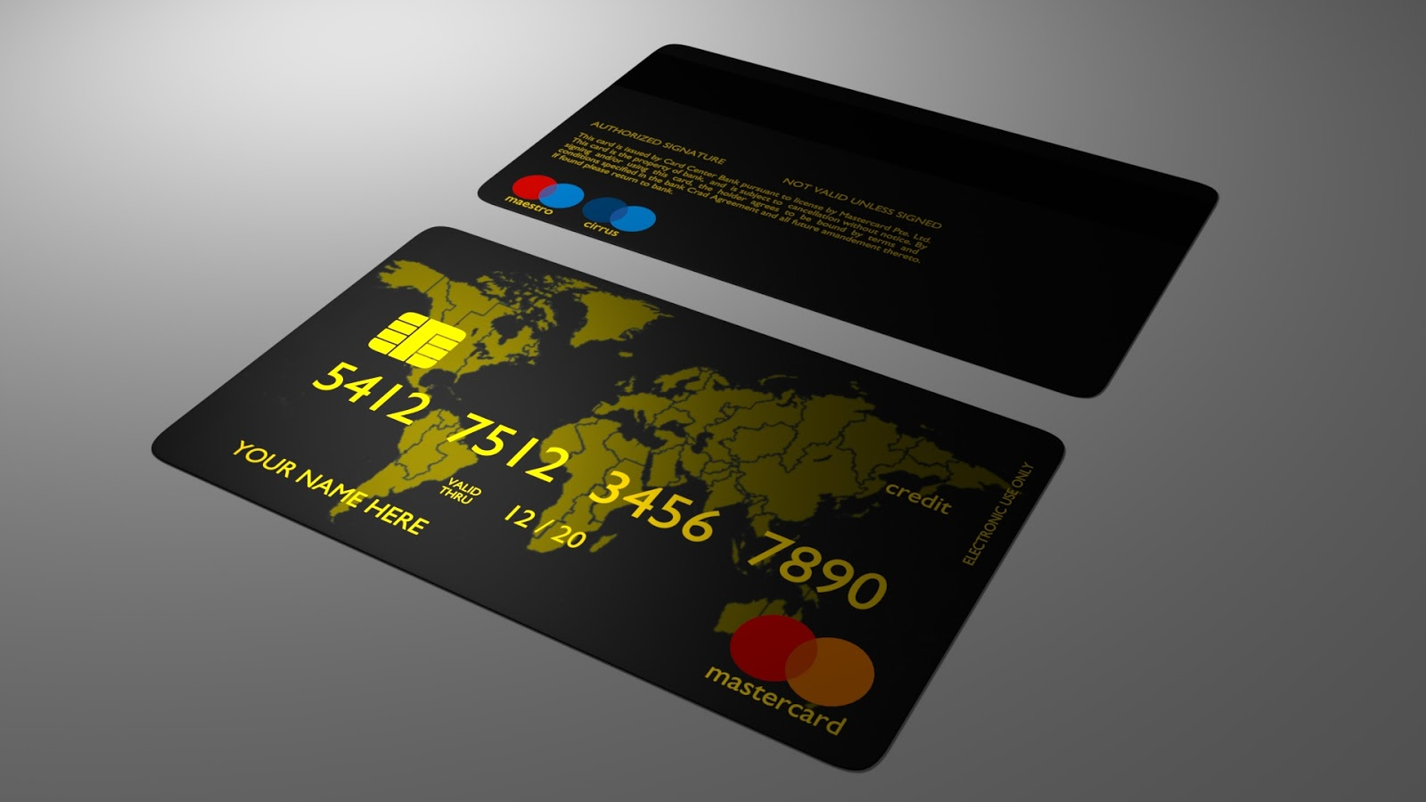 Free 3D Credit Card .blend file