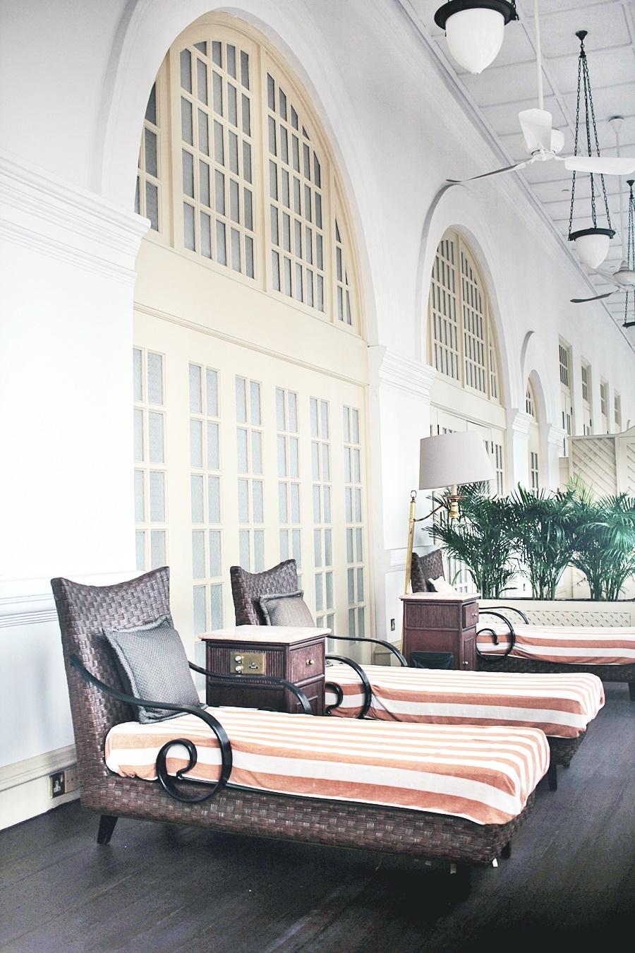 balcony raffles hotel spa area