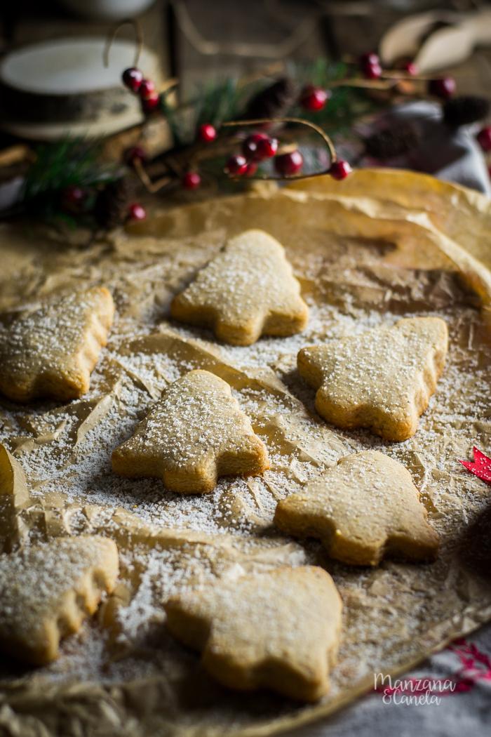 Mantecados de Navidad. Receta con Mesura, sin azúcar refinado.