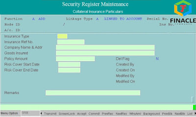 Insurnace Details of Security Register Maintenence