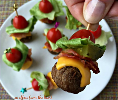 BACON CHEESEBURGER MEATBALLS #bacon #diet