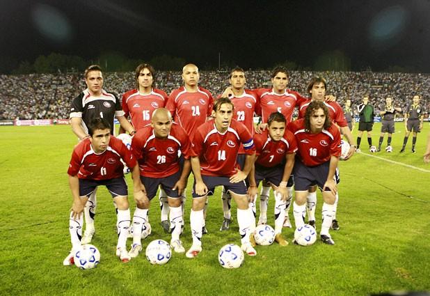 Formación de Chile ante Argentina, amistoso disputado el 18 de abril de 2007
