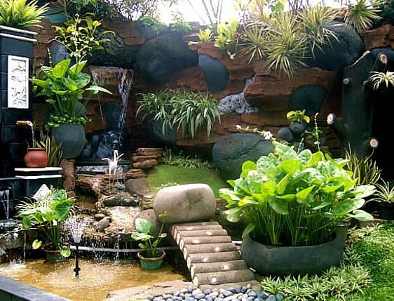 Taman depan rumah minimalis lahan sempit - Desain Rumah Idaman