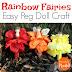 Flower Fairies of the Summer: Easy Rainbow Fairy Peg Doll Craft for Kids