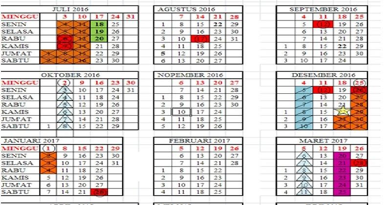 Download Kalender Pendidikan Tahun Ajaran 2016 2017 Referensi Download Dokumen