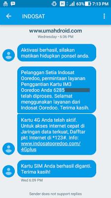 Ganti Kartu IM3 Dari 3G ke 4G Berhasil