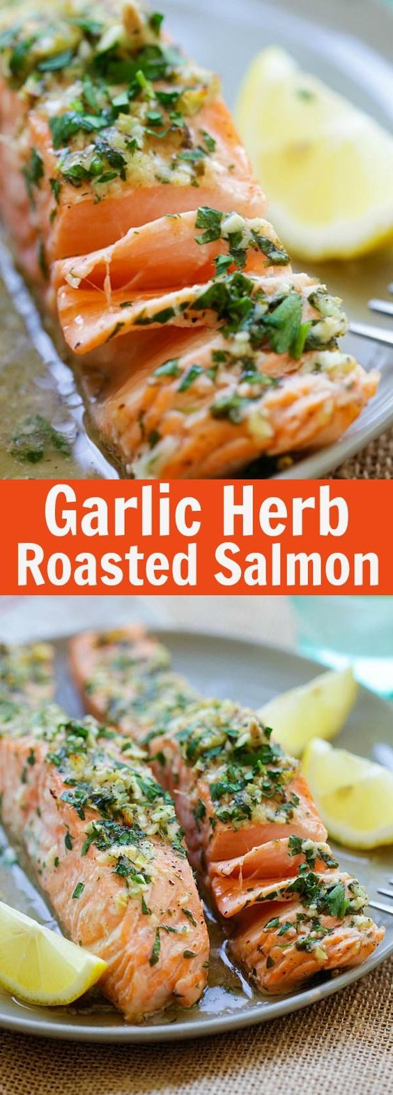 Easy Garlic Herb Roasted Salmon Recipe