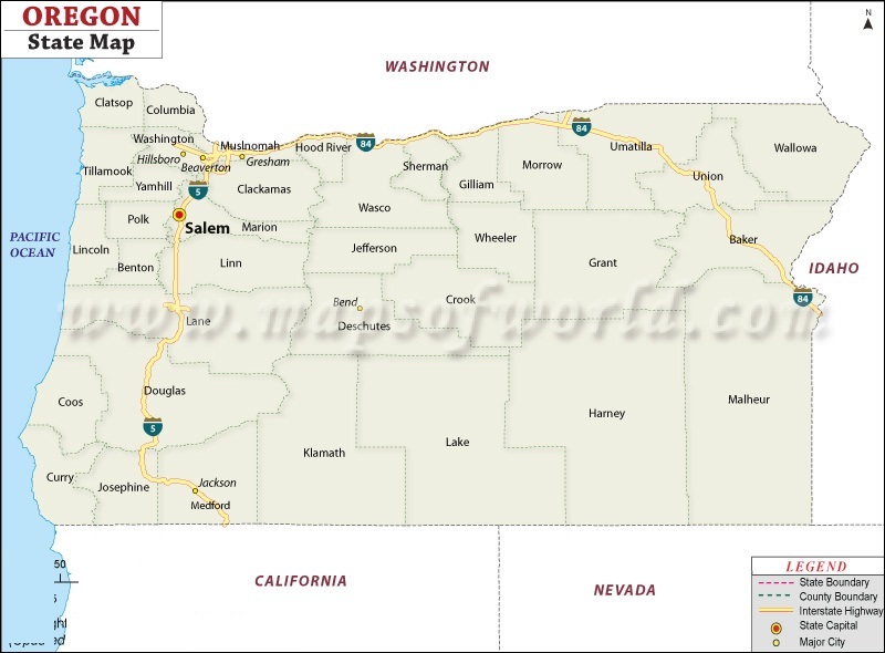 Map Of Oregon State Map Of USA - Oregon state map with cities