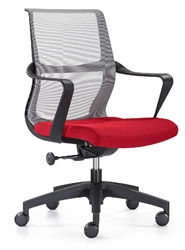 Gray and Red Office Chair