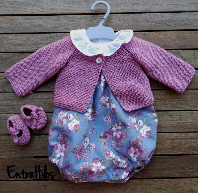 como hacer chaquetita o jersey de bebe tejido