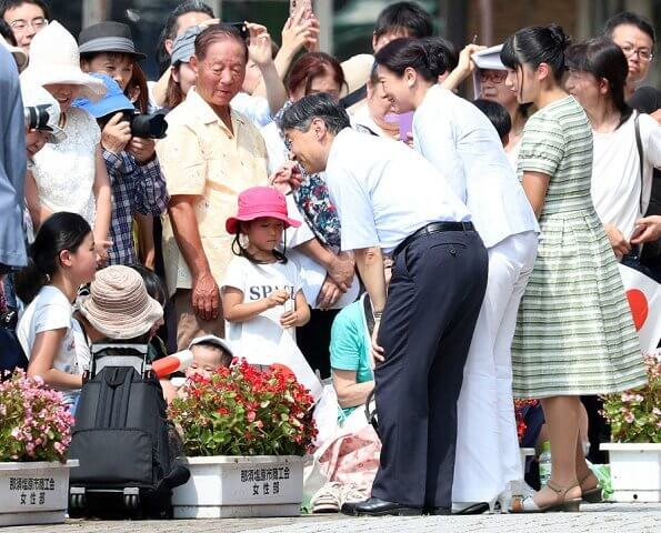Emperor Naruhito, Empress Masako and Princess Aiko traveled on summer holiday at the Nasu Imperial Villa
