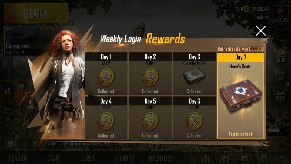 Weekly Login Rewards