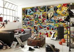 marvel comics wall mural 3d murals america office captain hero super strip superhero custom bedroom decor boys wallpapers wallmural background