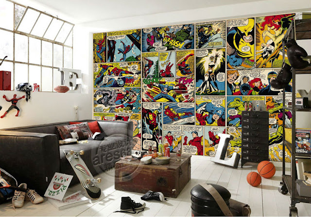 marvel wall murals comics trips Hero wallpaper mural childrens room Photo Wallpaper Kids Boys