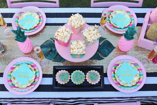 LAURA'S little PARTY: Tips for throwing a tropical themed soiree