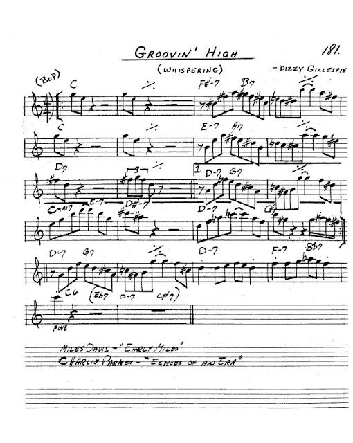 Partitura Saxofón Dizzy Gillespie