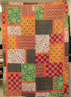 Fat Quarter Big Block quilt top