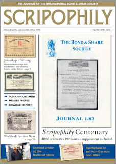 Scripophily magazine No. 100 - April 2016
