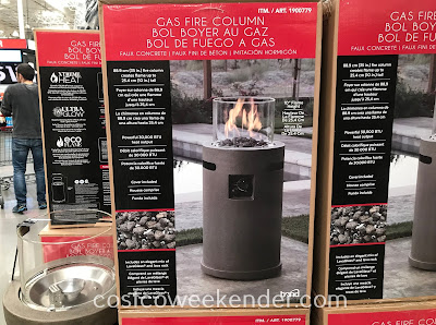 Stay warm while outside in your backyard with the Bond Gas Fire Column
