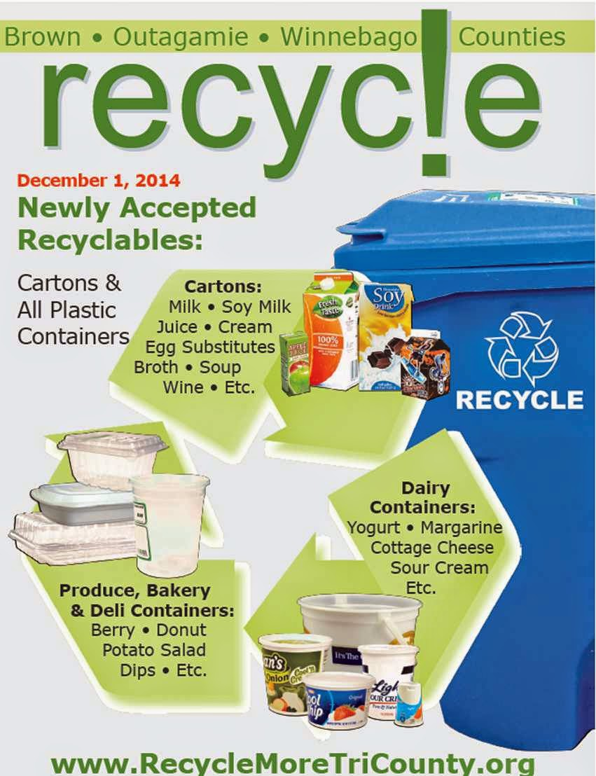 Village Of Bellevue Reminder New Recycling Materials