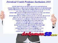 Download Contoh Penilaian Kurikulum 2013 SD
