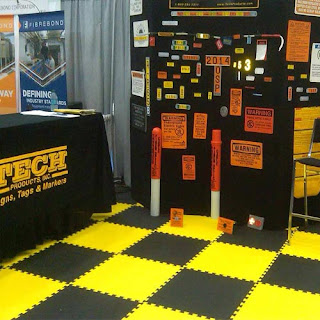 Greatmats Foam Interlocking Tile Trade Show Floor yellow and black