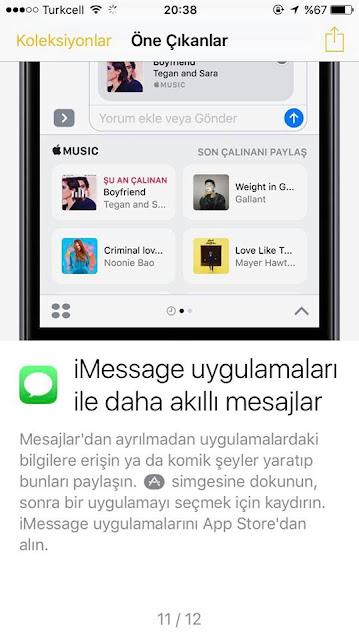 iMessage uygulamaları ile akıllı mesajlar gönderebilmek