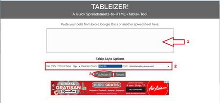 Cara Mudah Membuat Tabel di Postingan Blogspot Tanpa Edit HTML