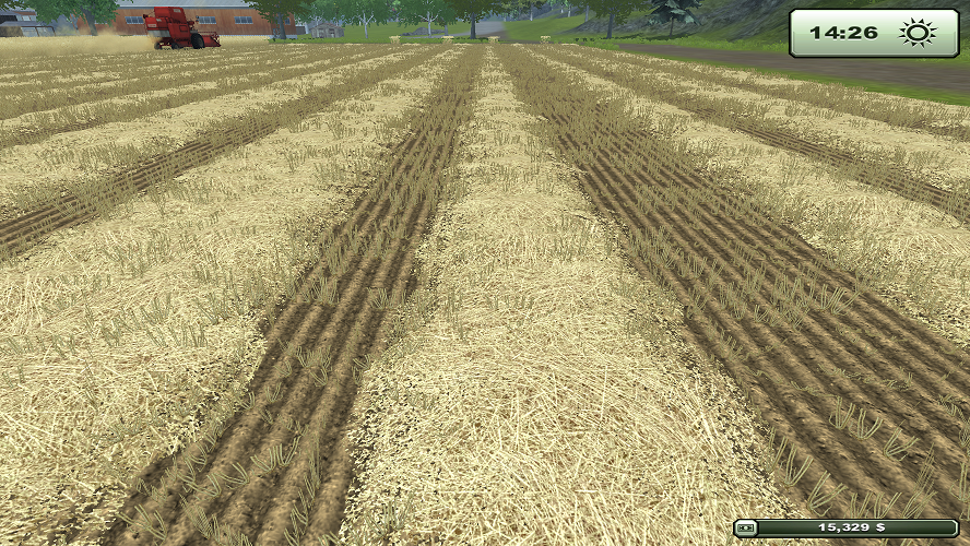 After harvesting wheat or barley you get straw