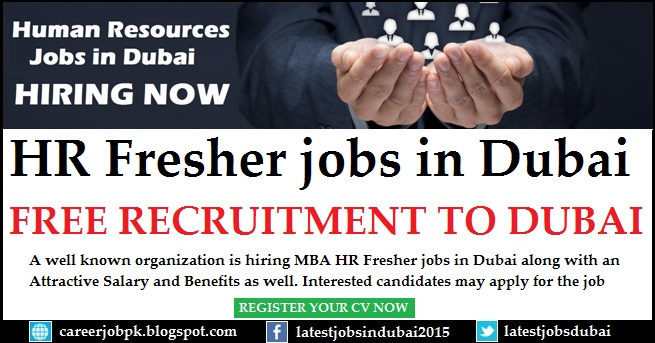 hr fresher jobs in dubai