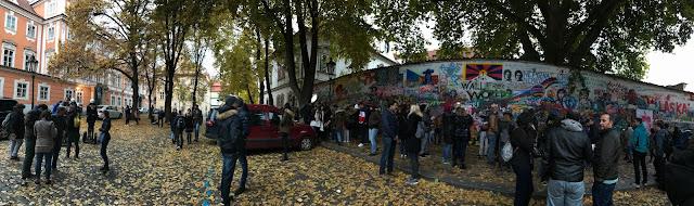mur John Lennon Prague