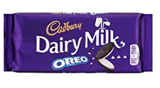 Cadbury dairy milk Oreo chocolate for this valentine day.
