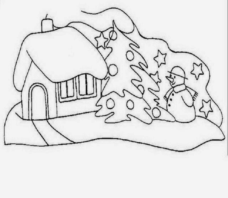 sauvage27 PAESAGGI DI NATALE  Disegni da colorare Landscapes of Christmas  Coloring Pages