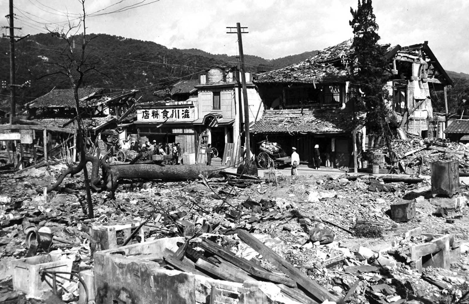 Hiroshima after the bombing.