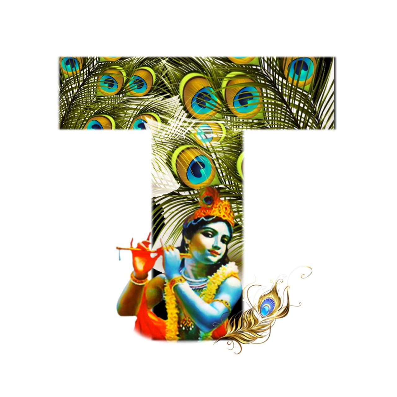 shree krishna alphabet t images