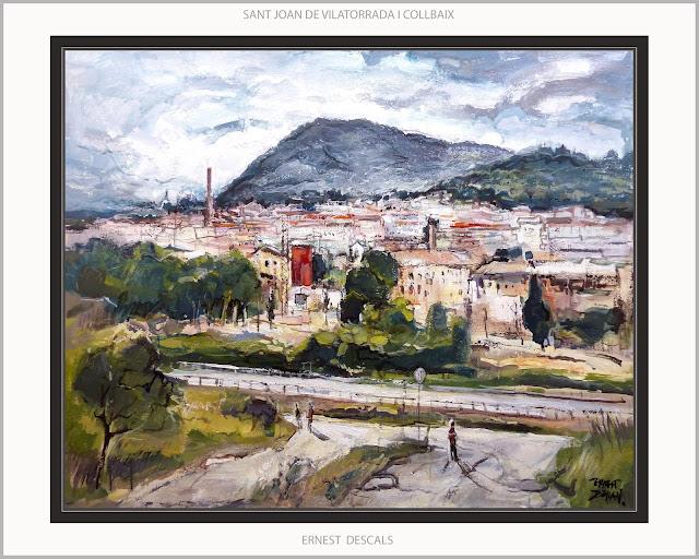 SANT JOAN DE VILATORRADA-PINTURA-COLLBAIX-FÀBRIQUES-PAISATGES-CATALUNYA-PANORAMICA-QUADRES-ARTISTA-PINTOR-ERNEST DESCALS-