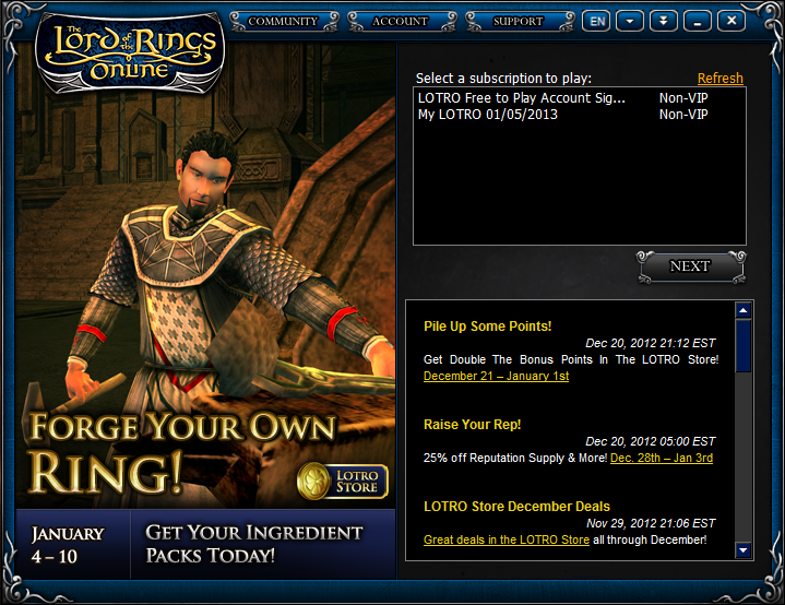 Free Lord of The Rings Online (LOTRO) VIP Accounts - DOWNLOAD ...