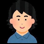 外ハネの髪型のイラスト(男性)