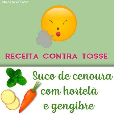 Contra tosse: Suco de cenoura com hortelã e gengibre