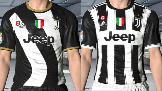 a499a500b PES 2017 Juventus 17 18 Leaked Kits by GgBlues PES Kits  Replace 2nd