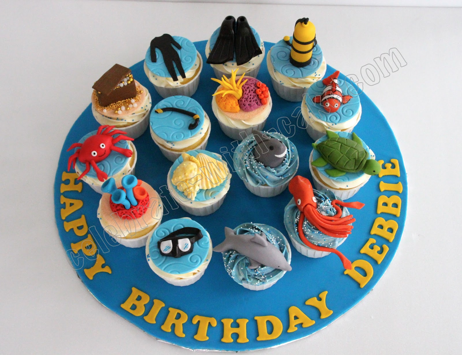 Diving Themed Cupcakes