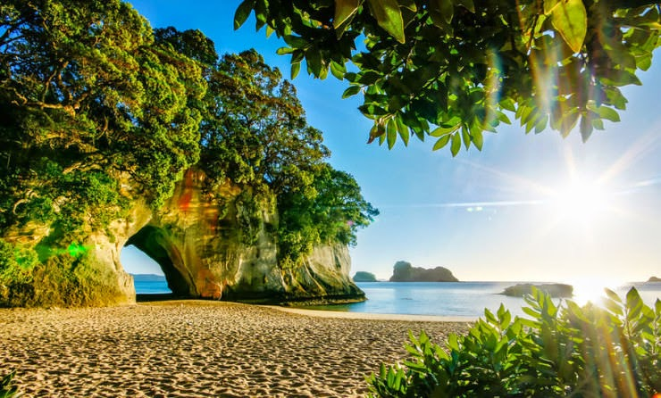 4. Cathedral Cove Beach, Coromandel Peninsula, New Zealand - Top 10 Unusual Beaches
