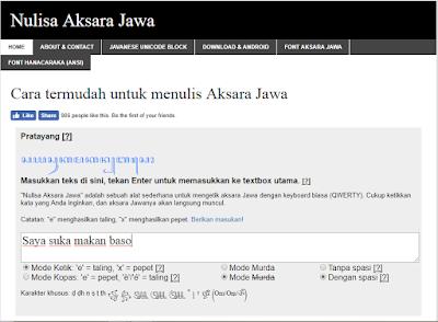 Nulisa Aksara Jawa