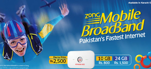 Zong Features 4G MiFi with Monthly Data Bundle Upto 200GBs. ~ Telecom And Technology News Blog