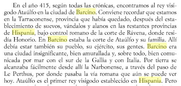 415, Ataúlfo, visigodo, Barcino, Hispania