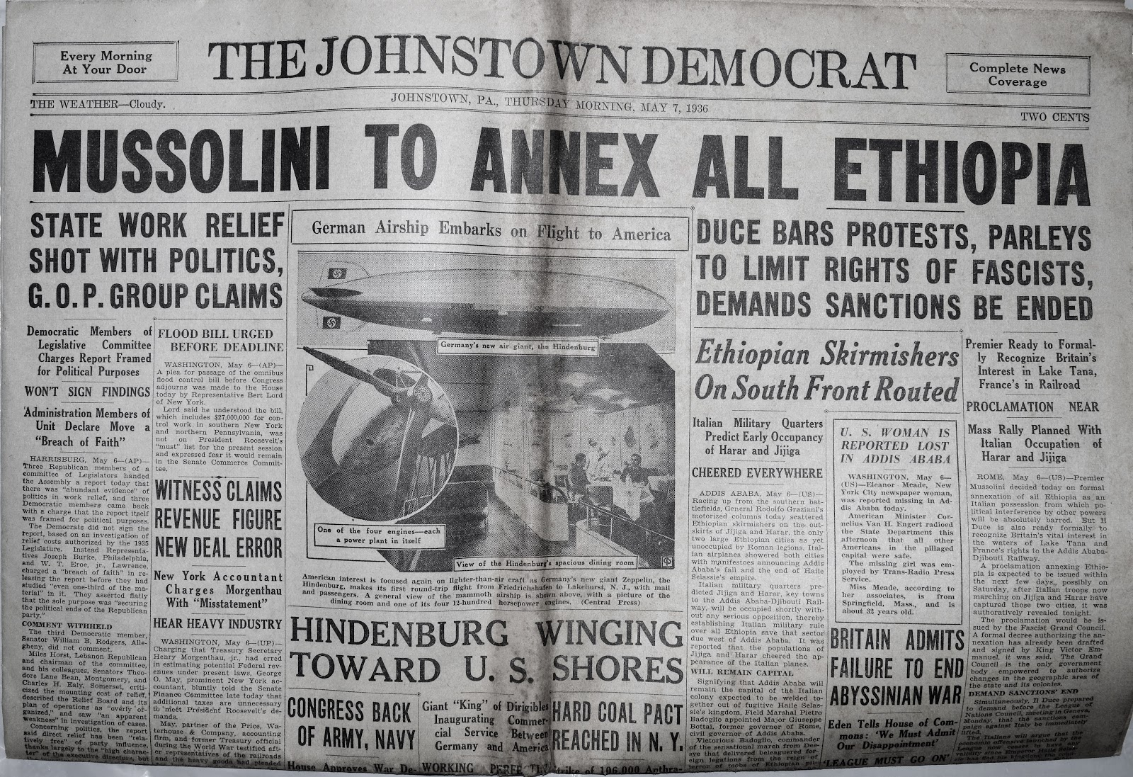 Vintage Johnstown: Last One - 7 May 1936 - The Johnstown