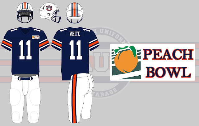 1990 peach bowl auburn indiana uniform