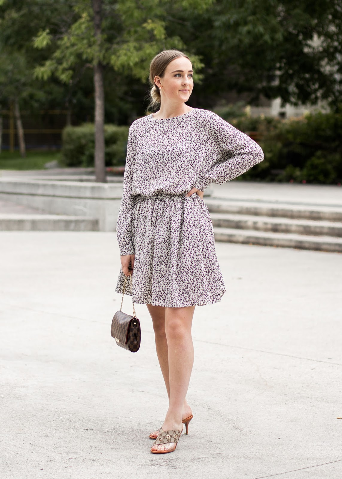 Noul dress - Gucci shoes - Louis Vuitton bag - Oak & Fort earrings - Outfit