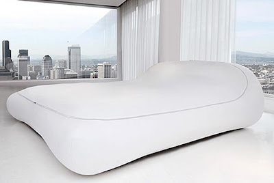 cama con un estilo futurista