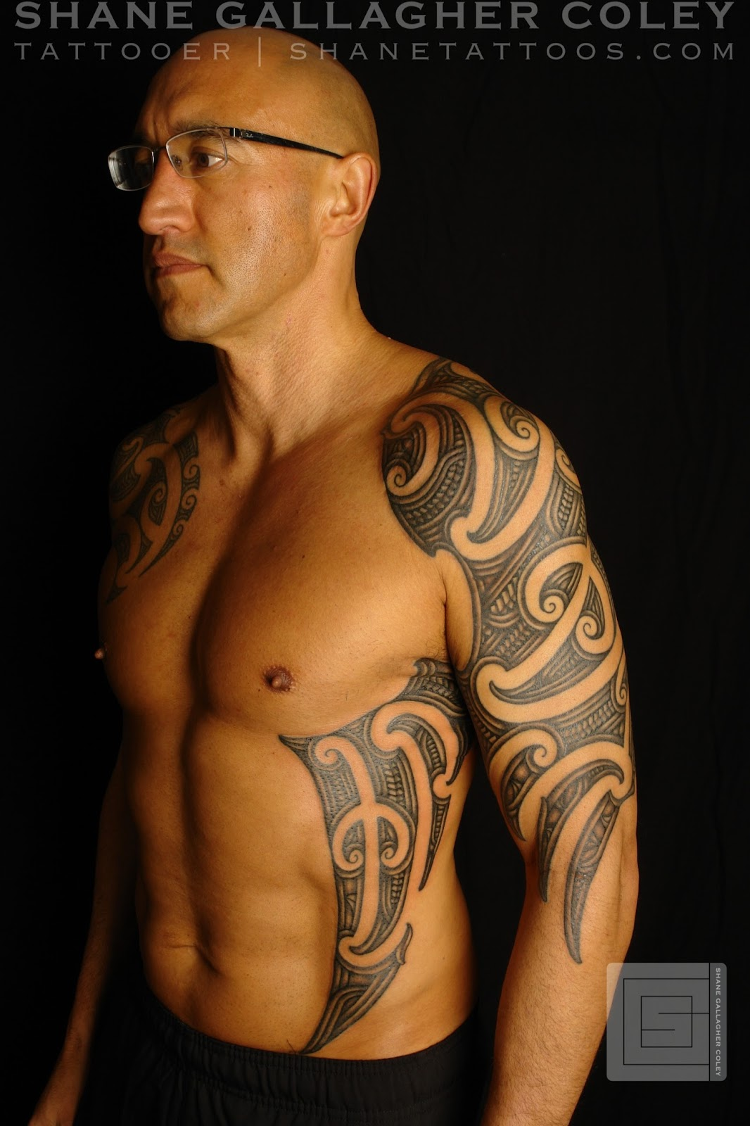 SHANE TATTOOS: Maori Sleeve And Side Tattoo/Ta Moko